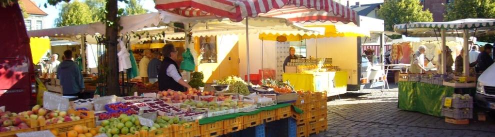 Der Wochenmarkt, jeden Mittwoch und Samstag