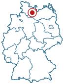 Lage der Stadt Bad Schwartau auf der Deutschlandkarte